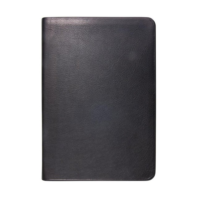 Traditional Small Flexible Cover Journal, Calfskin Book in Black For Sale - Image 3 of 3