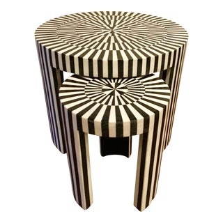 Made Goods Carlotta Stone Nesting Tables For Sale