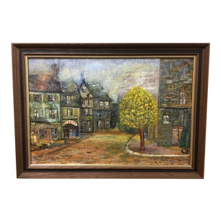 1960s Vintage Betty Hunter Original Oil on Canvas Painting For Sale