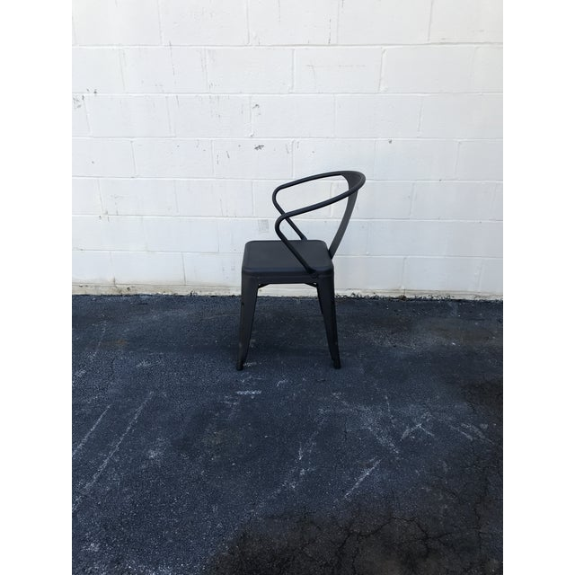 Black Tolix Chairs - Set of 4 For Sale - Image 4 of 5