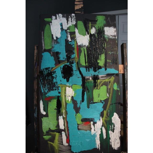 "2017 ""BU 4"" Abstract Acrylic Painting - Image 2 of 10"