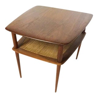 1960s Mid-Century Danish Modern Two-Tiered Teak Side Table