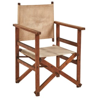 Early 20th Century Collapsable Canvas Director's Chair For Sale