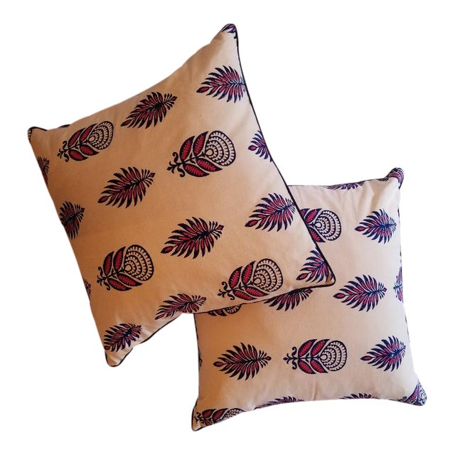 "Roberta Roller Rabbit 22"" Nala Throw Pillows - a Pair For Sale"