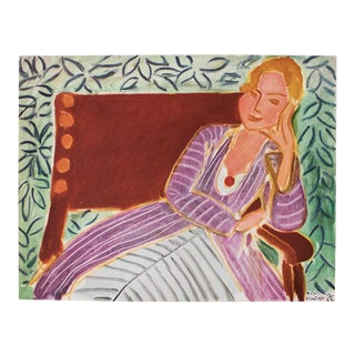 """1946 Henri Matisse, """"Girl in the Persian Dress"""" Parisian Lithograph/Pablo Picasso Collection For Sale"""