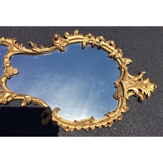 Traditional 19th Century Italian Gilt Wood Mirror For Sale - Image 3 of 6