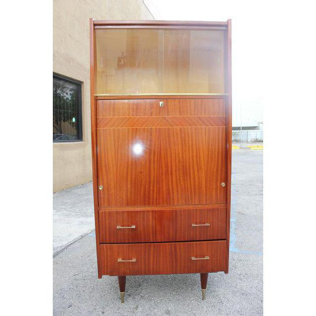 Monumental French Art Deco Mahogany Bar, Circa 1940s - Image 6 of 9