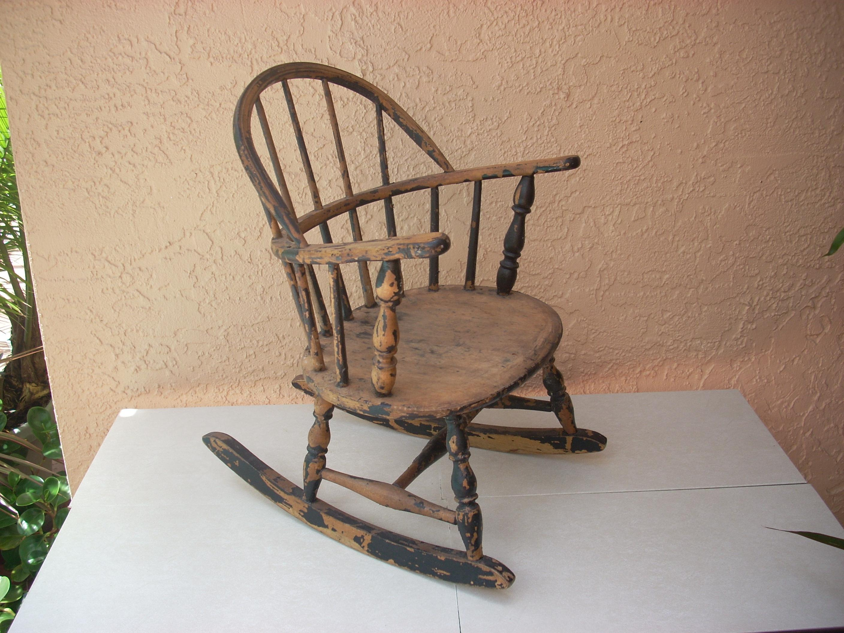 An Antique Rocking Chair Manufactured By S. Bent U0026 Bros, Co, Gardner,