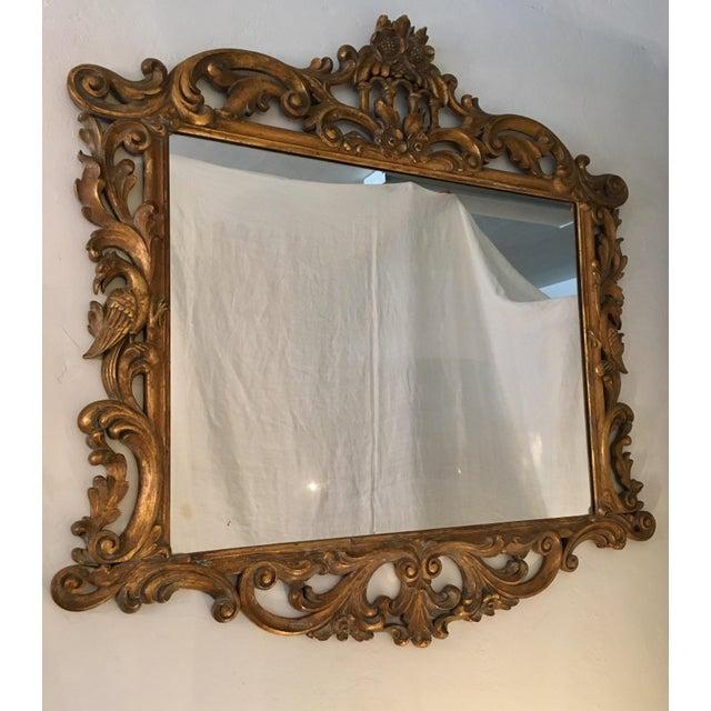 Gilt Finish Carved Italian Mirror - Image 4 of 11