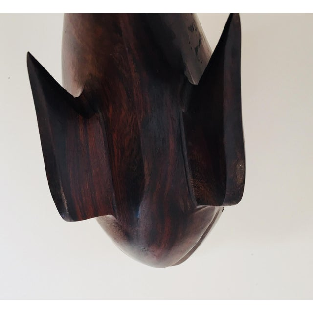 Seri Ironwood Animal Sculptures of a Pelican and a Whale- Set of 2 For Sale - Image 10 of 14
