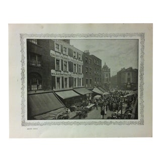 """1906 """"Seven Dials"""" Famous View of London Print For Sale"""
