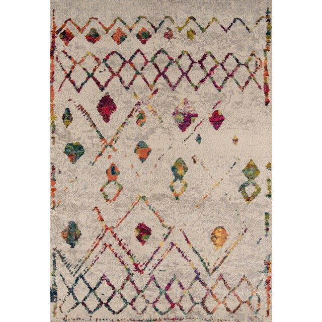"Contemporary Momeni Casa Polypropylene Beige Area Rug - 5'3"" X 7'6"" For Sale In Atlanta - Image 6 of 6"