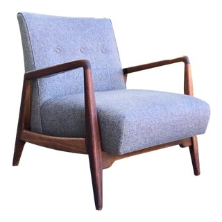 1950s Mid-Century Modern Jens Risom Lounge Chair For Sale
