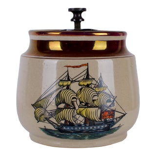 Gray's Pottery Ship Humidor For Sale