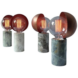Marble Table Lamps, Sander Bottinga For Sale