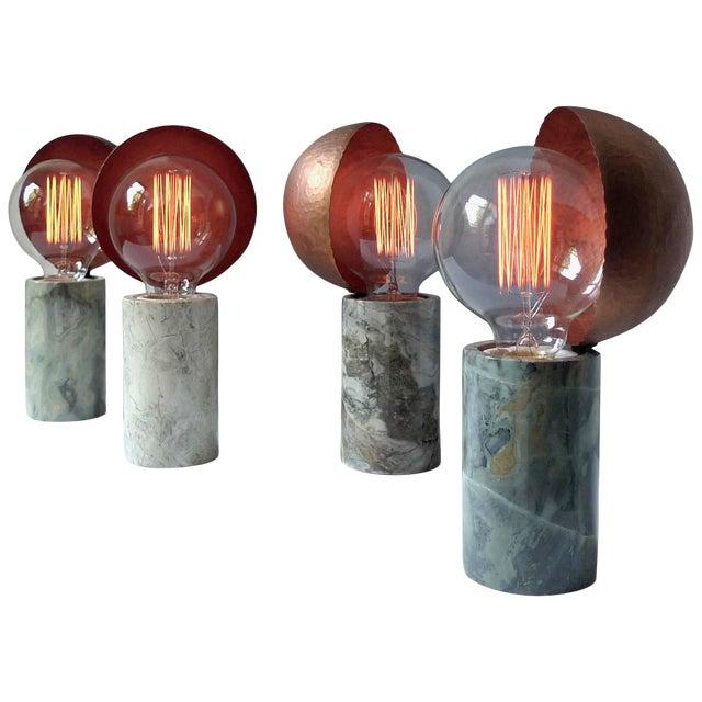 Marble Table Lamps, Sander Bottinga For Sale