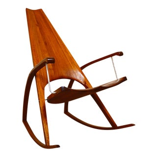 Mid Century Modern Leon Meyer Rocking Chair For Sale