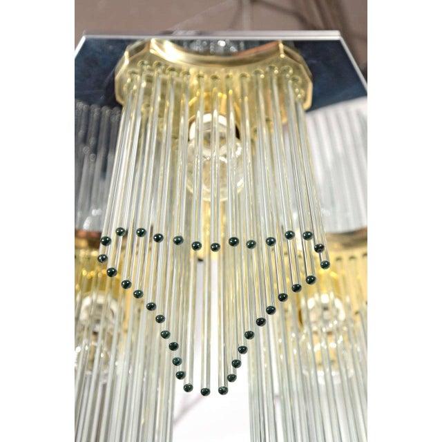 Lightolier Mid Century Modern Glass Rod Waterfall Chandelier by Gaetano Sciolari For Sale - Image 4 of 6