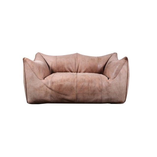 1970s Original Buffalo Leather Bambole Loveseat Sofa by Mario Bellini for B&b Italia For Sale - Image 9 of 9