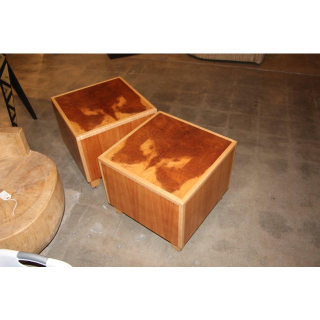 """Contemporary 1990s Vintage Joseph Kelly Custom Made """"Rorshach Bunching"""" Tables- A Pair For Sale - Image 3 of 11"""