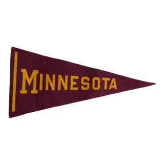 Vintage Minnesota Felt Flag For Sale