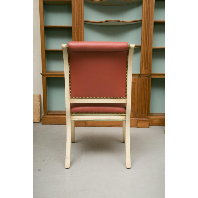Regency Style Painted Dining Chairs - Set of 6 For Sale - Image 4 of 12