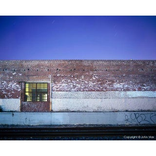 "Contemporary Night Photograph ""Brick Wall"" by John Vias For Sale"