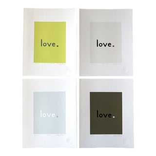 """""""April"""" Contemporary Love Giclee Prints by Neicy Frey - Set of 4 For Sale"""