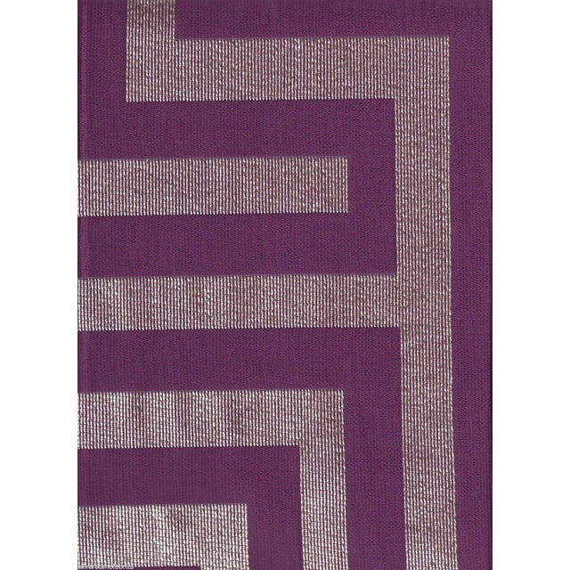 Beacon Hill Geometric Olympus in Purple & Silver - 2.25 Yards - Image 2 of 5