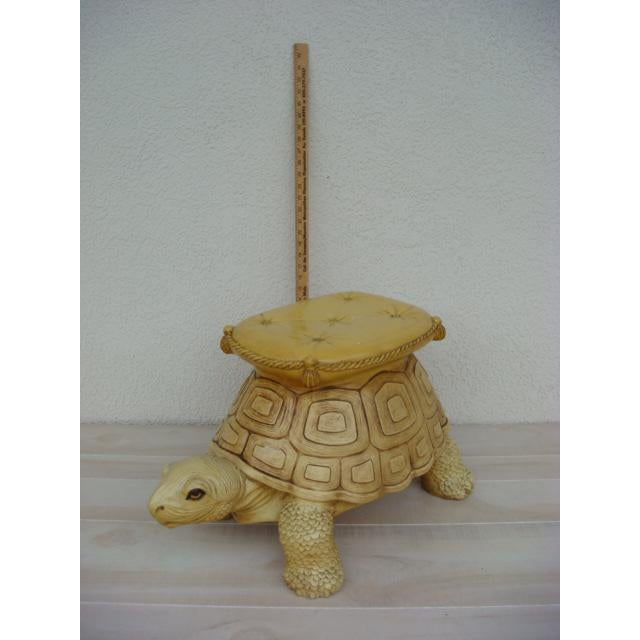 Mid-Century Turtle Form Garden Stool Bench Ottoman For Sale - Image 12 of 13