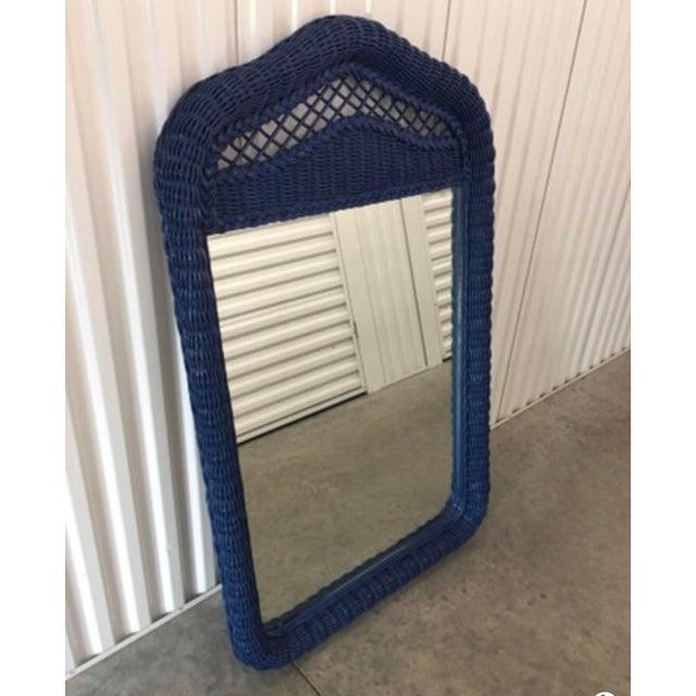 Lexington Furniture Lexington Lacquered Rattan Mirror For Sale - Image 4 of 4