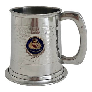 Queen Elizabeth Comemorative Pewter Mug For Sale
