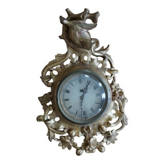 Antique Late 19th Century Gold Leaf Clock For Sale