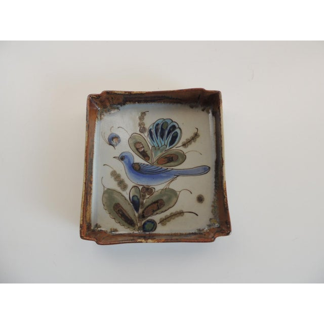 1980s Vintage Talavera Hand Painted Ceramic Catchall Tray For Sale - Image 5 of 5