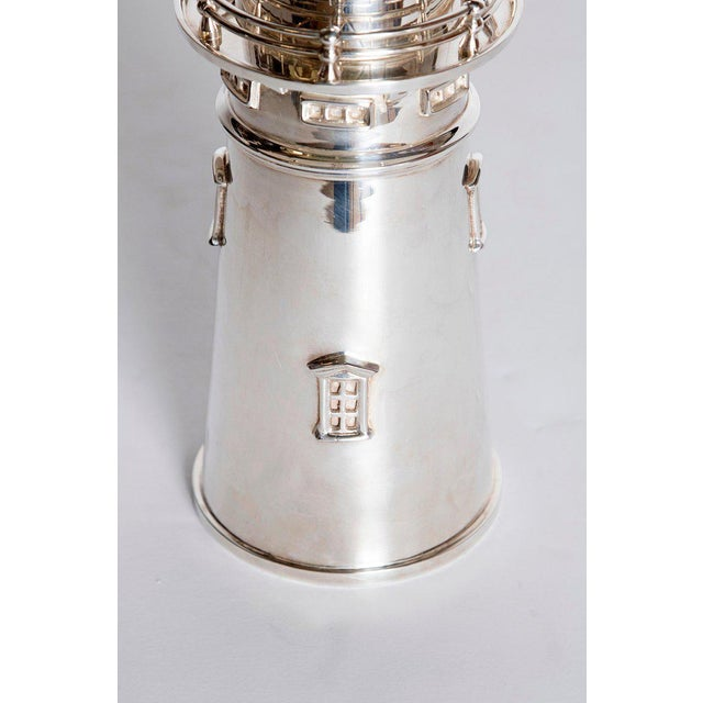 Silver-Plated Boston Lighthouse Cocktail Shaker For Sale In Dallas - Image 6 of 13