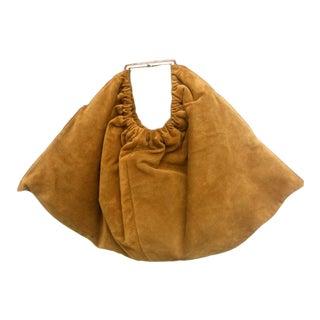 Versace Italian Brown Suede Handbag For Sale