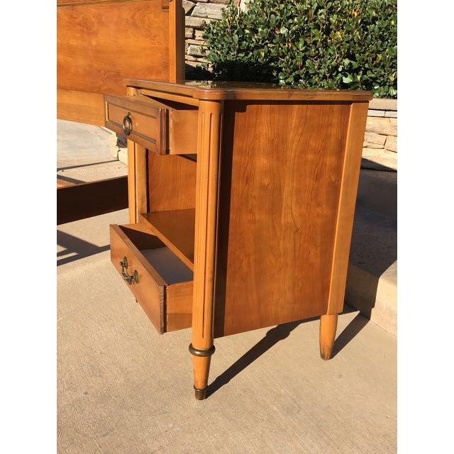 Brass 1950s Danish Modern j.b. Van Sciver Co. Nightstand Side Table For Sale - Image 7 of 13