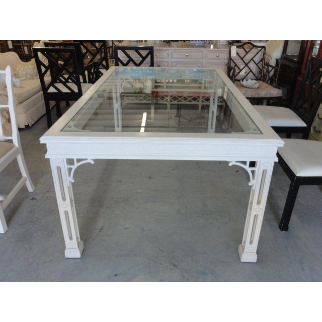 Palm Beach Fretwork Dining Table For Sale - Image 12 of 12