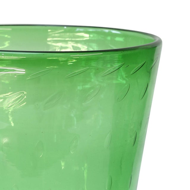 Empoli Italian Green Glass Vase by Empoli For Sale - Image 4 of 8