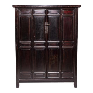 19th Century Chinese Four Panel Shanxi Cabinet For Sale