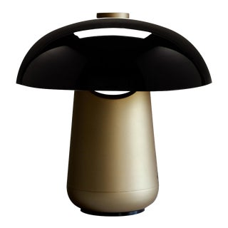 Contardi Ongo Metal Table Lamp, Bronze and Black For Sale