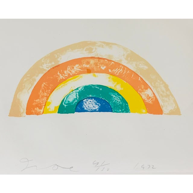 """Jim Dine (American, 1935- ) """"Rainbow,"""" 1972 Color lithograph on wove paper with deckled edges Hand signed, numbered..."""