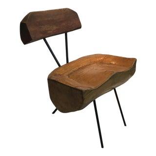 """Vintage Mid Century Unique """"Slab"""" Chair For Sale"""