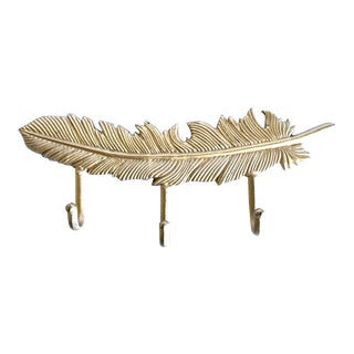 Gold Feather Coat Rack Hooks For Sale