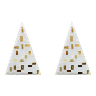 Luxor Sconces / Flush Mounts by Fabio Ltd - a Pair For Sale