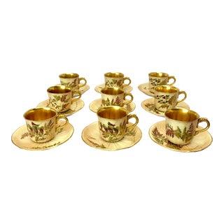 Mid 19th Century Royal Worcester Ceramic Demitasse - Set of 18 For Sale