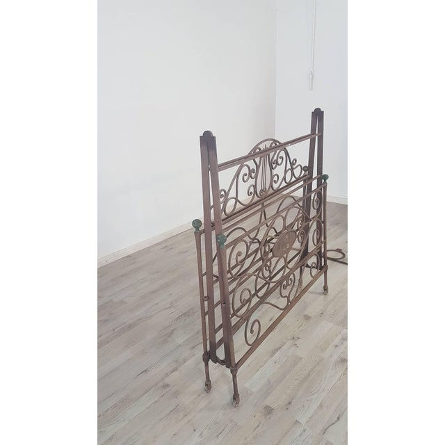 19th Century Empire Iron Single Bed For Sale - Image 4 of 13