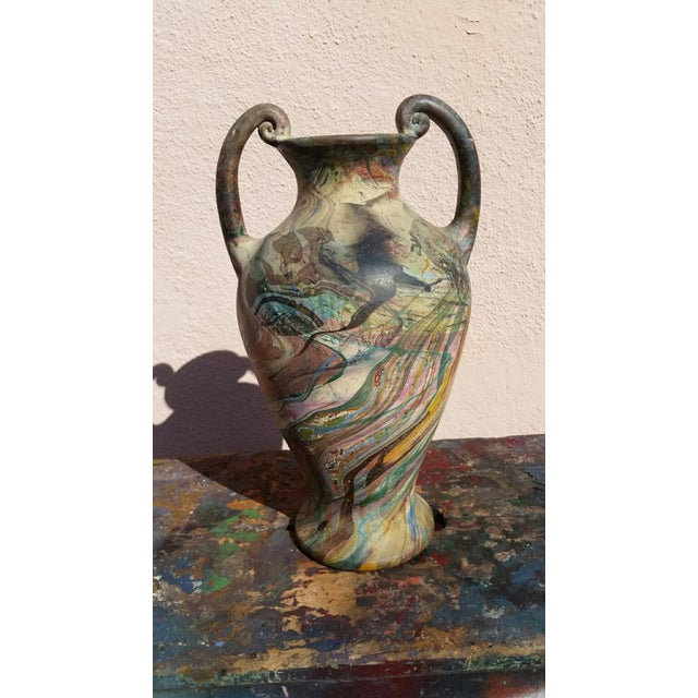 Vintage Marbleized Swirls Urn - Image 5 of 5
