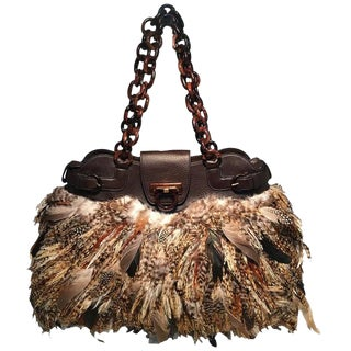 Marc Jacobs Black Nylon Beaded Tropical Chappy Bird Tote For Sale