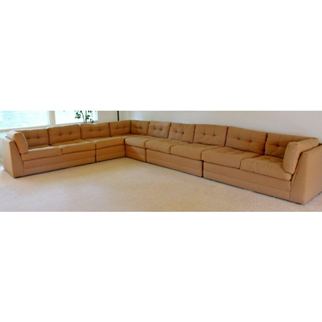 Preview Contemporary Modern Vladimir Kagan for Preview 5 Pc L Shape Sectional Sofa 1980s For Sale - Image 4 of 9